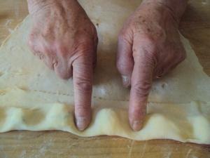 ravioli pinching
