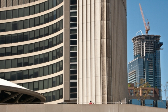 Toronto city hall & crane.