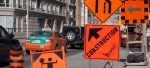 construction signs in street