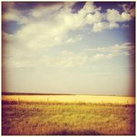 Driving through Kansas.