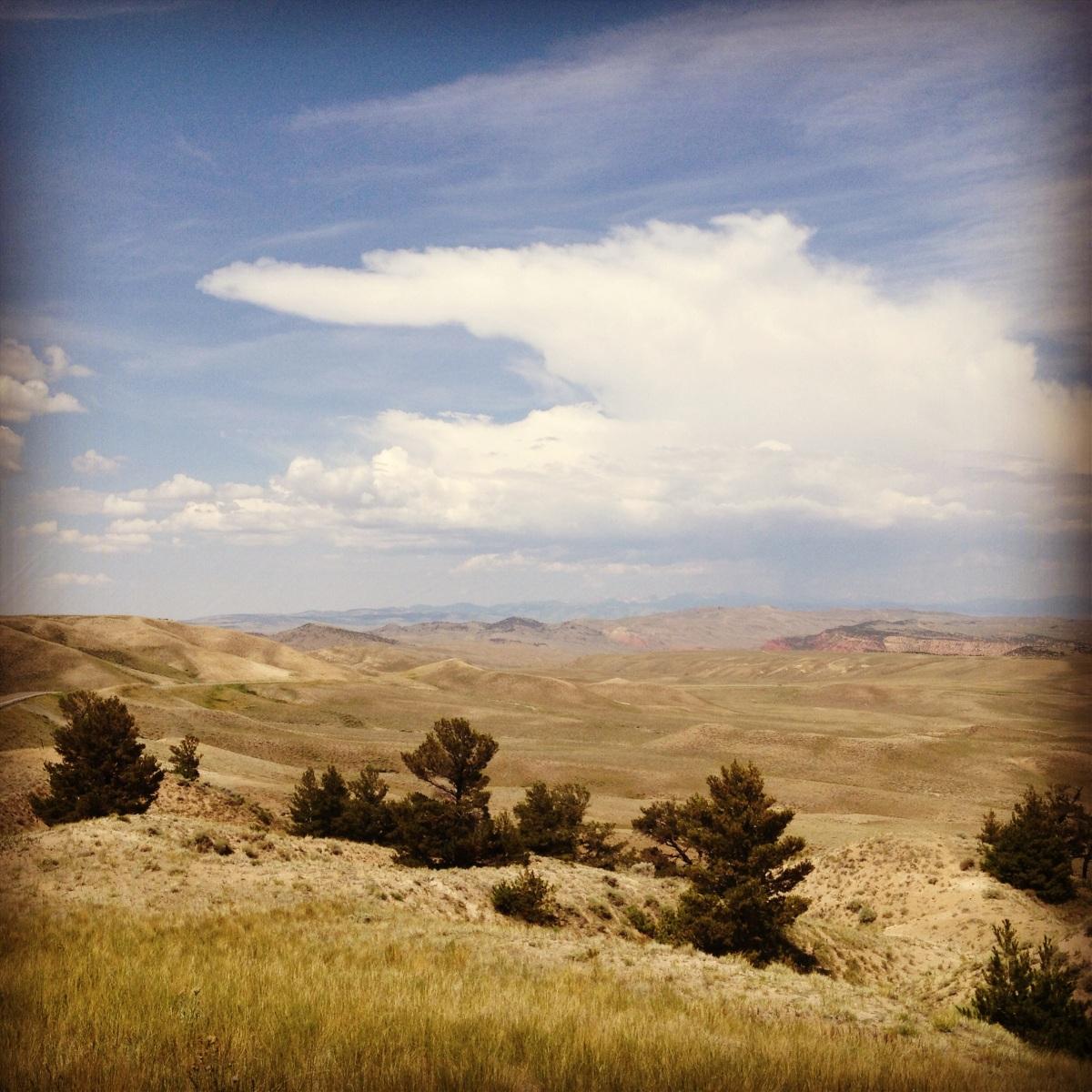 Wyoming mountains.