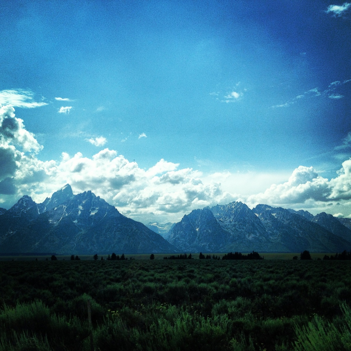 Wyoming mountains.