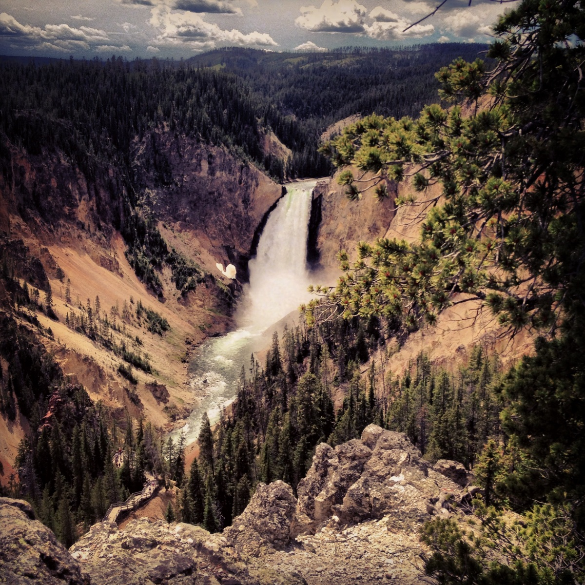 Yellowstone waterfall.
