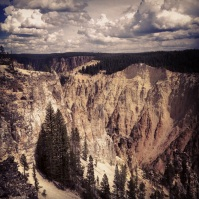Canyon in Yellowstone.