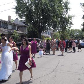 Summer wedding, Bikers in Rome, Toronto visitors