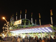 BIZR ride at the Ex at night