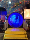 Blue circle of light feature at the CNE