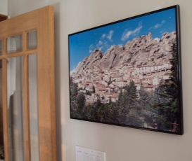 Photo of mountain village in front hall.