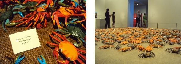 Ai WeiWei river crabs and AGO shop crabs.