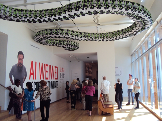 Ai WeiWei Exhibition Entrance at AGO.
