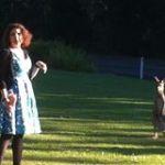 Jo and kangaroo.