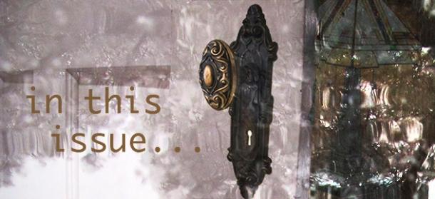 Doorknob and open door.
