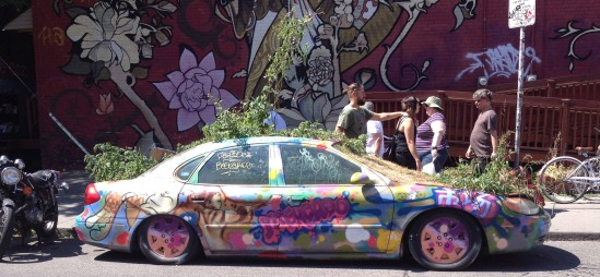 Garden car in Kensington market.