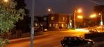 Nightscape city street.