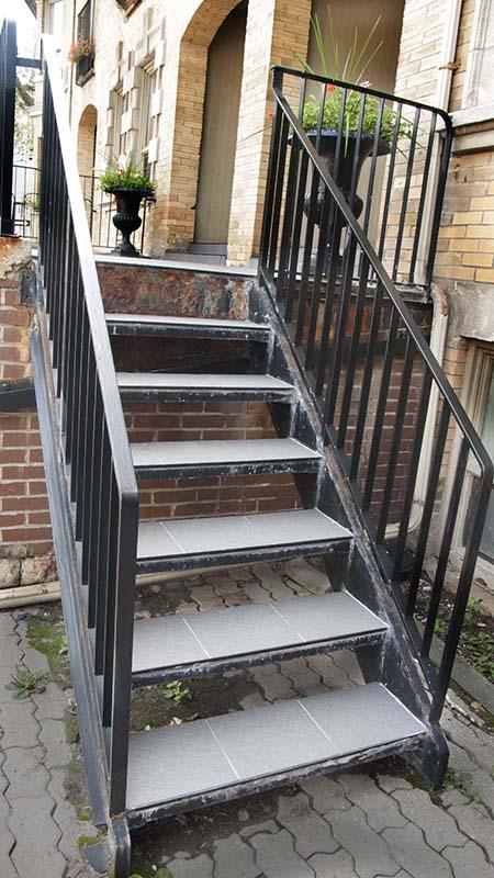 Front steps.