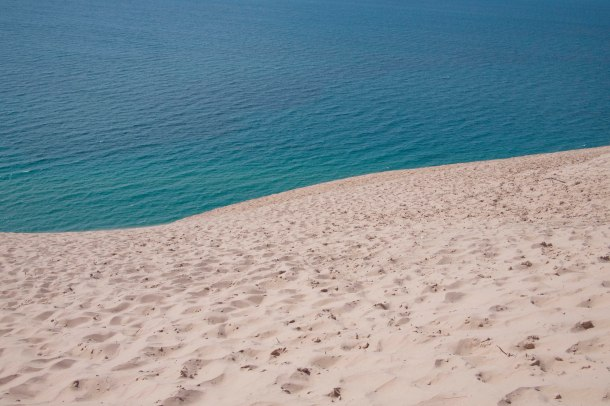 Sea from sand dune.