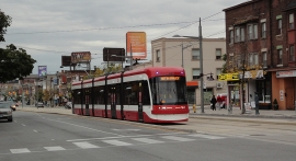 New streetcar test drive on St Clair.