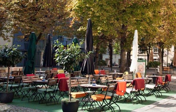 Outdoor cafe in Vienna.