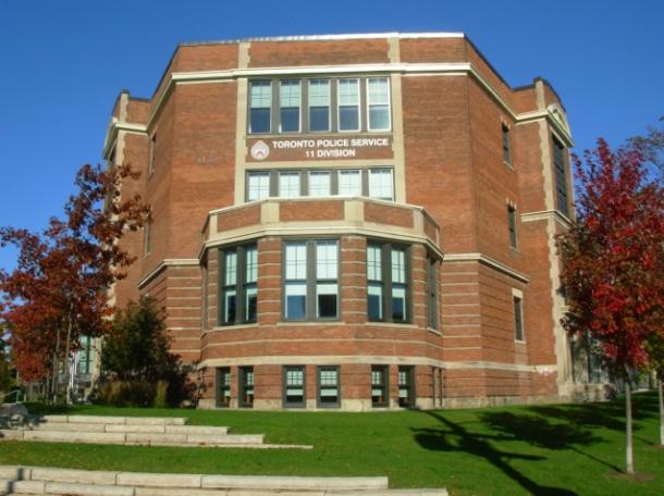 Exterior old Carleton Village school.