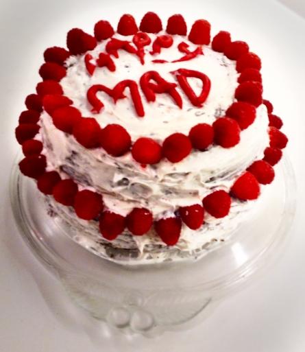 Wonky birthday cake.