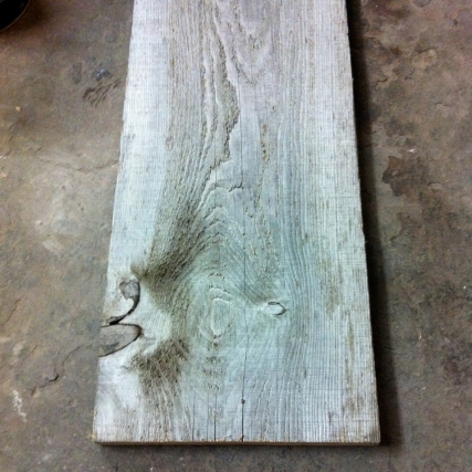 Plank used in reno of Boxcar Social.