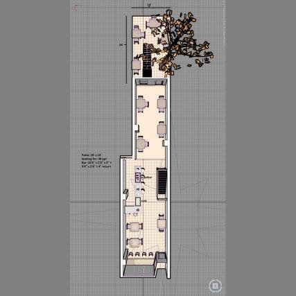 Floorplan for Boxcar Social.