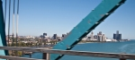A view of Detroit from the Ambassador Bridge.