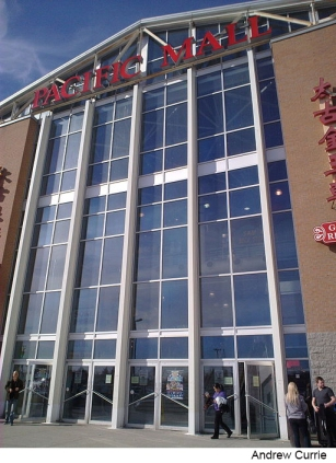 Front facade of Pacific Mall in Markham Ontario.