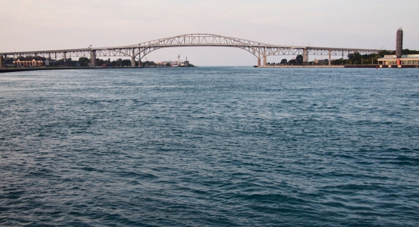 The Blue Water bridge between Sarnia and Port Huron.