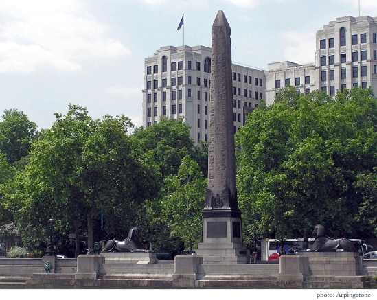 Cleopatra's needle, London.