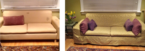 Couches before and after.