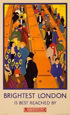 London Underground poster.
