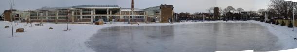Wychwood barns ice rink 2009.