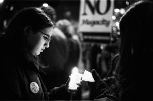 No megacity candlelight vigil.