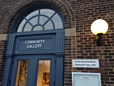 Gallery name sign at Wychwood Barns.