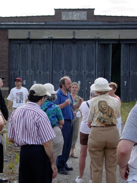 Joe Mihevc at Wychwood barns.
