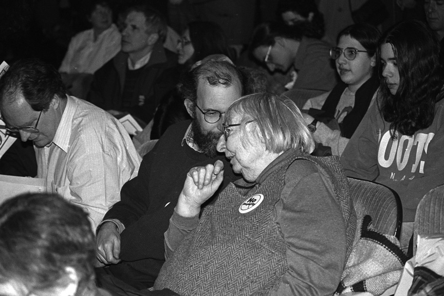 Jane Jacobs at No Megacity rally.