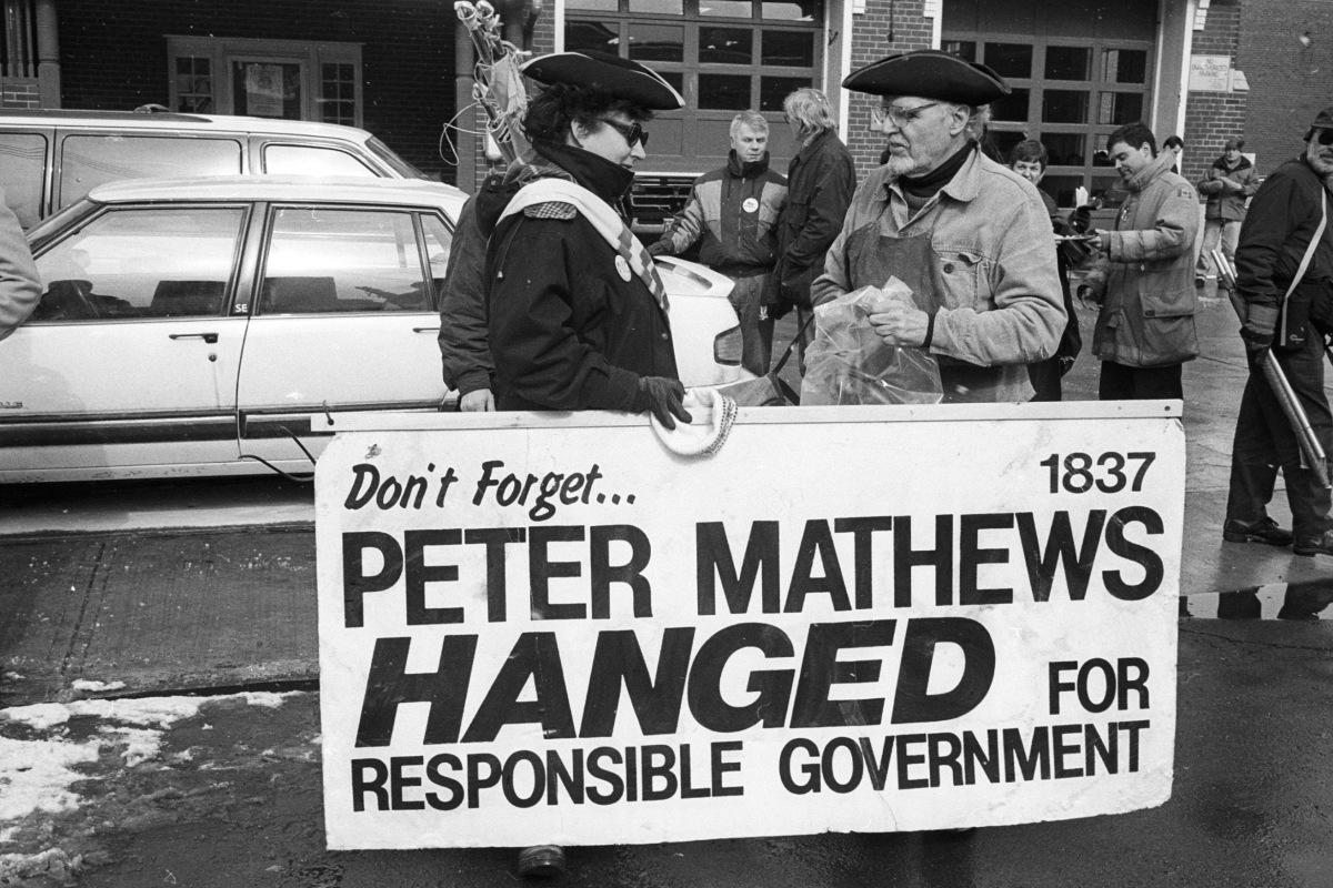 Peter Matthews sign at No Megacity march.