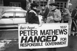 Peter Matthews sign at No Megacity march.