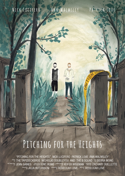 Pitching for the Heights movie poster.
