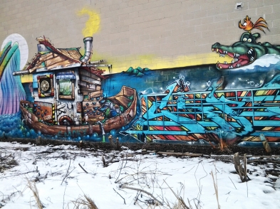 Graffiti along York Beltline Trail.