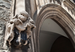 Monkey gargoyle, Hart House, U of T.