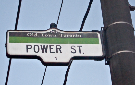 Power St. street sign.