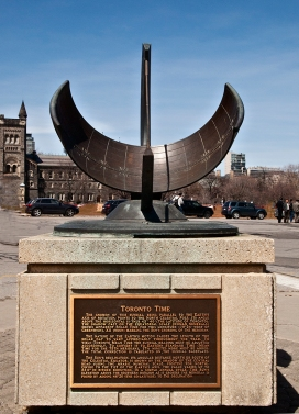 Sanford Fleming memorial sundial.
