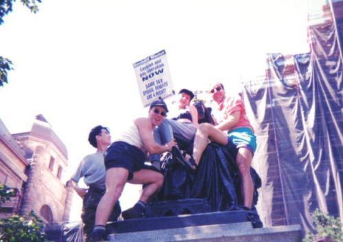 Cheryl Dobson at Toronto Pride parade.