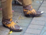 Fancy boots.