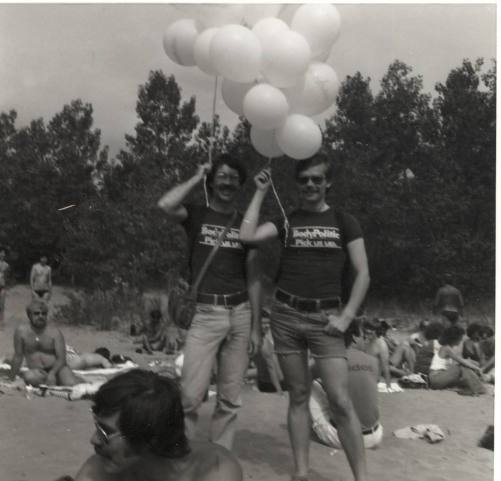 Gerald Hannon at 1978 Gay Days Toronto.