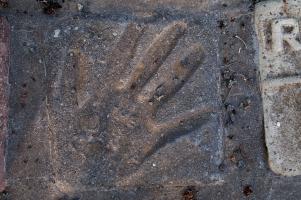 Handprint tile.