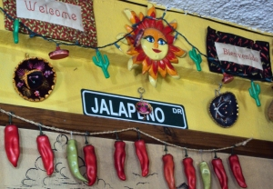 Jalapeño wall display.