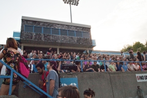 Lamport Stadium audience.